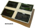 Cornish Cross Belt Buckle + display stand. Code TJ2